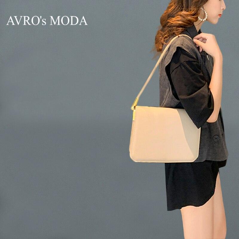 AVRO's MODA sacs à main de luxe femmes sacs sacs de créateurs pour les femmes 2019 dames de mode en cuir véritable épaule petit fourre-tout rabat sac