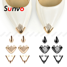 Shoe-Charms Reapair-Decorations-Accessories Toe-Protection Metal Sunvo for High-Heel