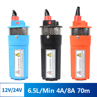 Solar Submersible Pump High Lift DC 12V 24V Deep Well Pump Small Electric Car Battery Outdoor Pump