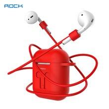 Мягкий силиконовый чехол rock для apple airpods 2 1 беспроводные