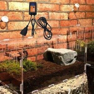 Image 5 - Mata grzewcza termostat plastikowa taca propagacyjna Hydroponic ogrodnictwo sprzęt do uprawy mata grzewcza regulator temperatury wtyczka EU