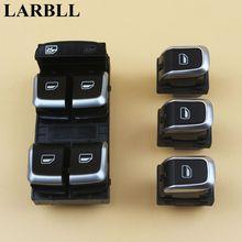 LARBLL حزمة من 4 جديد كروم الإلكترونية نافذة التحكم التبديل زر مجموعة لأودي A4 S4 B8 Q58 8KD959851A 8KD959855A