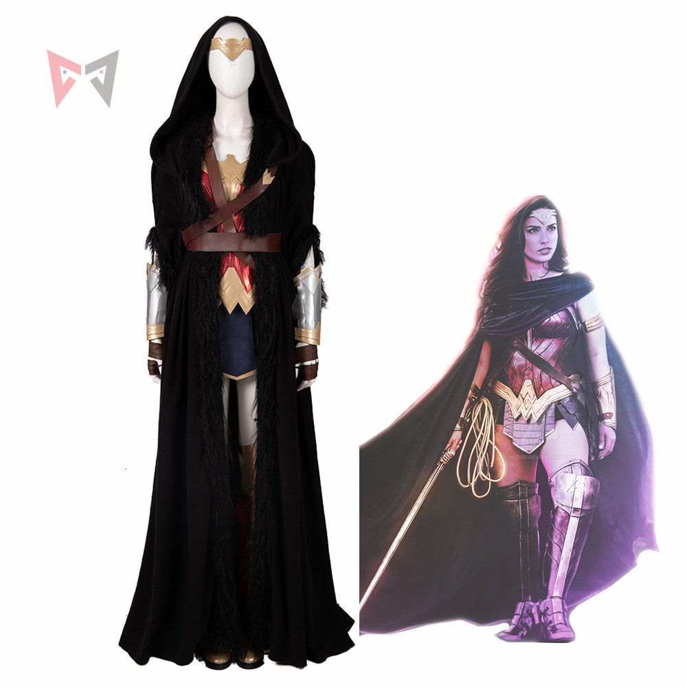 MMGG New Wonder Woman Cosplay Diana Prince DC Superhero Suits Halloween Costume For Women Masquerade Outfit Custom Made