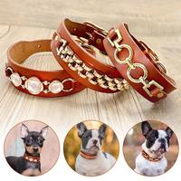 real-leather-dog-collar-durable-dogs-collars-bling-rhinestone-cool-metal-dog-accessories-for-small-medium-dogs