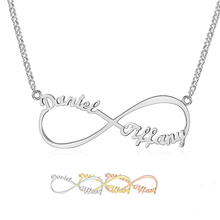 Heart Infinity Necklace Personalized Engraved Date Numerals Nameplate Necklaces & Pendants Stainless Steel Jewelry