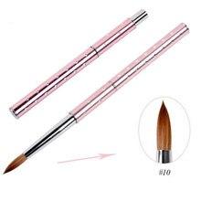 1 pc escova da arte do prego canetas escovas do prego com diamante kolinsky uv gel polonês pintura desenho escovas unhas manicure ferramentas 8 #10 #