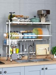 304 edelstahl küche regal waschbecken air schüssel rack entwässerung rack waschbecken behälter regal setzen stäbchen