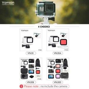 Image 5 - Vamson dla Gopro Hero 7 6 5 akcesoria wodoodporna obudowa ochronna obudowa nurkowanie 45M ochronna dla Gopro Hero 6 5 kamera VP630