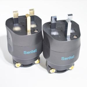 Image 5 - Serost hifi Hi End אודיו בריטניה כוח תקע בריטניה מחבר עבור כוח כבל FI UK 1363 (G) זהב תקע אודיו בריטניה תקע חשמל