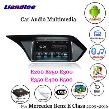 Car GPS Navigation Multimedia Player For Mercedes Benz E200 E250 E300 E350 E400 E500 Android Screen Auto Carplay Radio Stereo image
