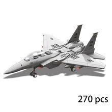 270 pçs J-15 águia lutador morden exército warcraft avião de guerra militar ww2 jx005 conjunto diy modelos 3d blocos de construção brinquedos para meninos