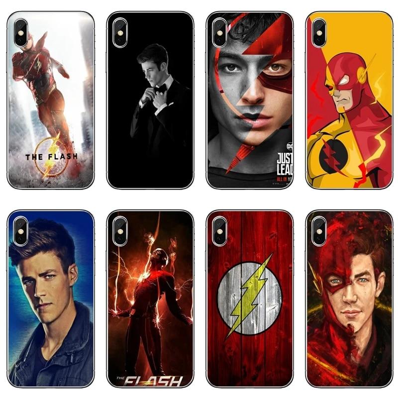 Coque de téléphone, film de bande dessinée, film Flash, Barry Allen, pour Samsung Galaxy S10e Lite S9 S8 S7 S6 edge Plus S5 S4 S3 Note 10 9 8 5 4 mini