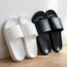 Summer Home Men Slippers Simple Black White Lovers Shoes Non slip Bathroom Slides Flip Flops Indoor Women Platform Slippers
