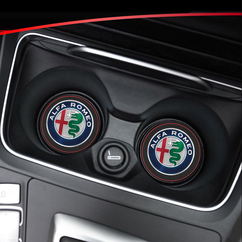 1pcs Car Interior Mats Water Coaster Leather Pad For Alfa Romeo Giulietta 159 147 156 Giulia Stelvio Car Anti-dirty Pad