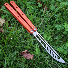 5 Colors Butterfly Kraken Sea Monster Channel Aluminum Handle Hunting Trainer Knife Bushing System Tactical Hunting Edc Knifes