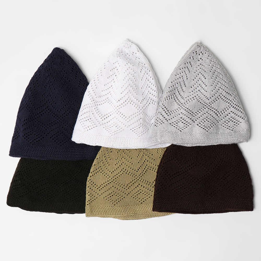 2020New ชายมุสลิมสวดมนต์หมวก Beanie ตุรกีตุรกีถักหมวกอิสลามหมวก Headscarf เสื้อผ้าอาหรับโครเชต์แฟชั่นอิสลาม