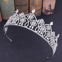 Luxury Wedding Tiara Princess Crown Diadem for Girls Crystal Tiara Bridal Hair Accessories Jewelry Headband Ornaments red crystal wedding crown queen tiara bride crown headband bridal accessories diadem mariage hair jewelry ornaments