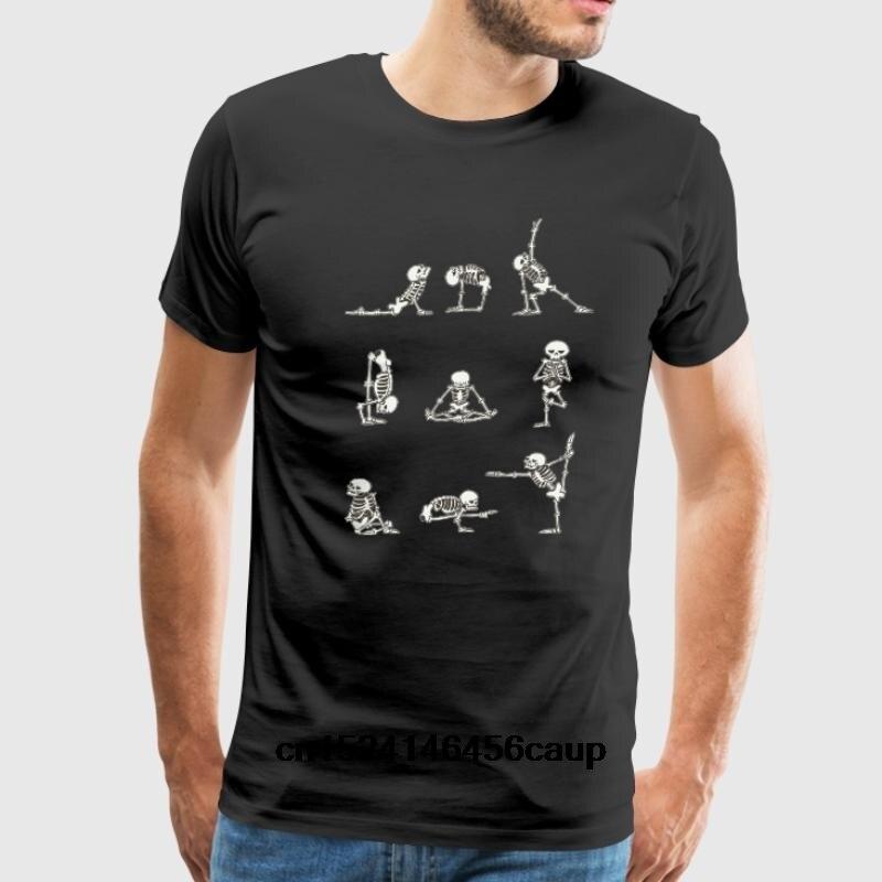 100% Cotton O-neck Custom Printed Men T shirt Skeleton paintin Women T-Shirt