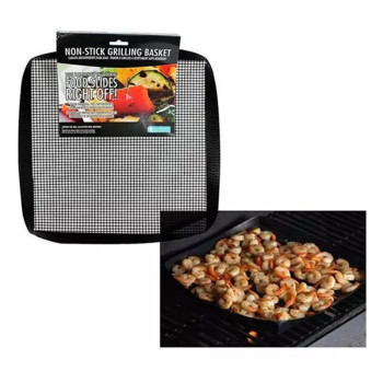 40*33cm Non-Stick Easily Cleaned BBQ Mesh Grill Mat Cooking Sheet Barbecue Liner Roaster Tools image