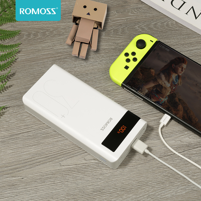 ROMOSS 30000mAh Power Bank PD Quick Charge Powerbank PD 3.0 Fast Charging Portable Exterbal Battery Chargerfor iPhone for Xiaomi 6