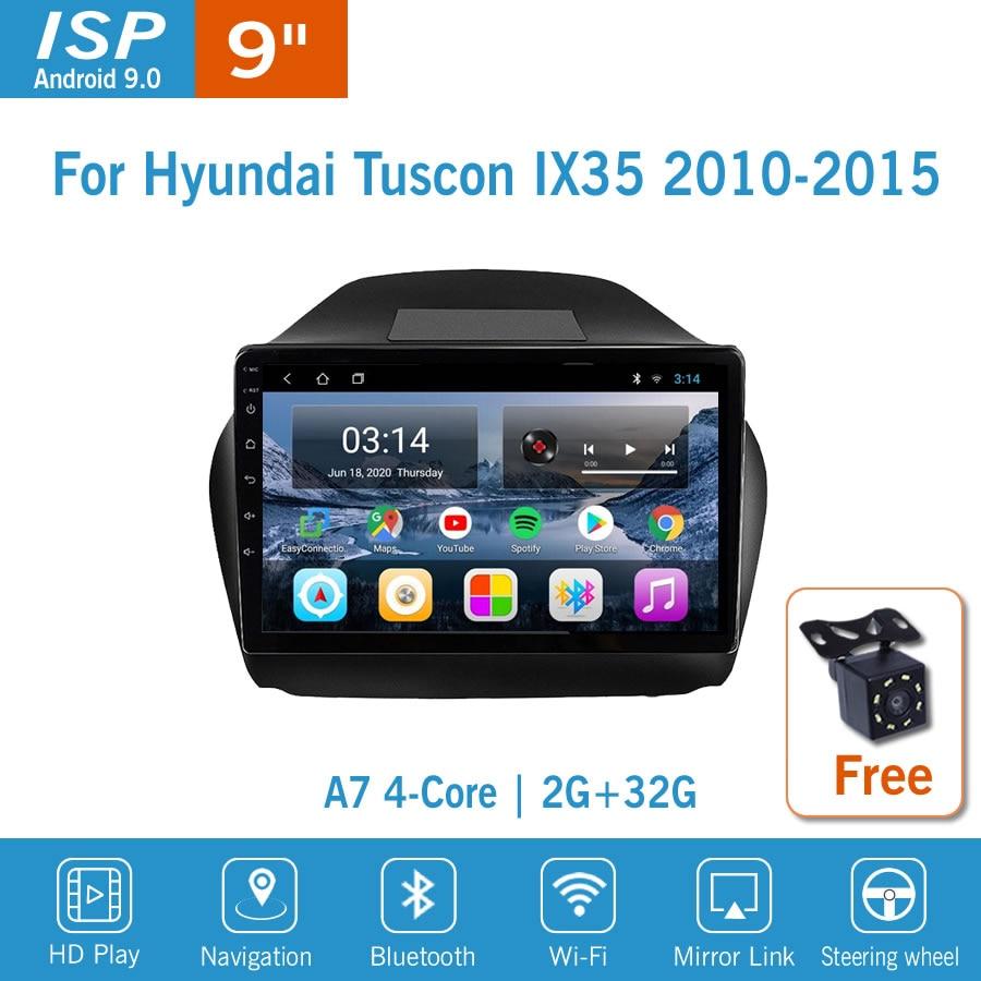Автомагнитола 9 дюймов IPS Android 9 для HYUNDAI Tuscon IX35 2010-2015, радио, мультимедиа, GPS-навигация, навигатор, автомобильный стерео-проигрыватель с Wi-Fi