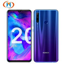 Global Version Honor 20 Lite Dual SIM 4GB 128GB Mobile Phone Octa core 6.21 inch Triple Camera 24MP Front 32MP 4G LTE Smartphone