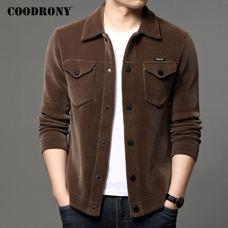 COODRONY Brand Sweater Coat Men Streetwear Fashion Cardigan Men Clothing Autumn Winter New Arrival Thick Warm Jacket Male C1193
