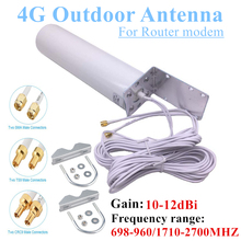 WiFi Antenna CRC9 4G LTE Outdoor Antennas SMA Omni Antenne 3G TS9 With 5 Meters dual Connector Cable for Huawei ZTE Router Modem