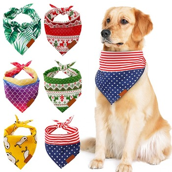 2020 New Pet Fashion Accessory Neck Jewelry Ornament Soft Collar Bandanas Puppy Cats Scarfs Triangle Bibs image