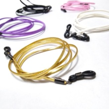flat PU leather eyeglass cord spectacle chain reading glass string sunglass rope