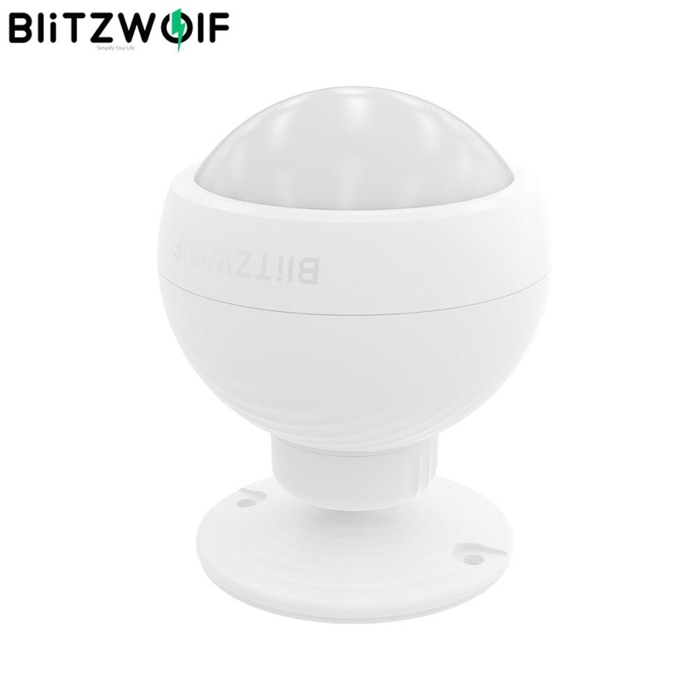 Blitzwolf BW-IS3 Detector de movimento sem fio inteligente 110 ° Pir Zigbee Smart Home Control, Detecção por infravermelho residencial inteligente Corpo humano Alarme Sensor de movimento