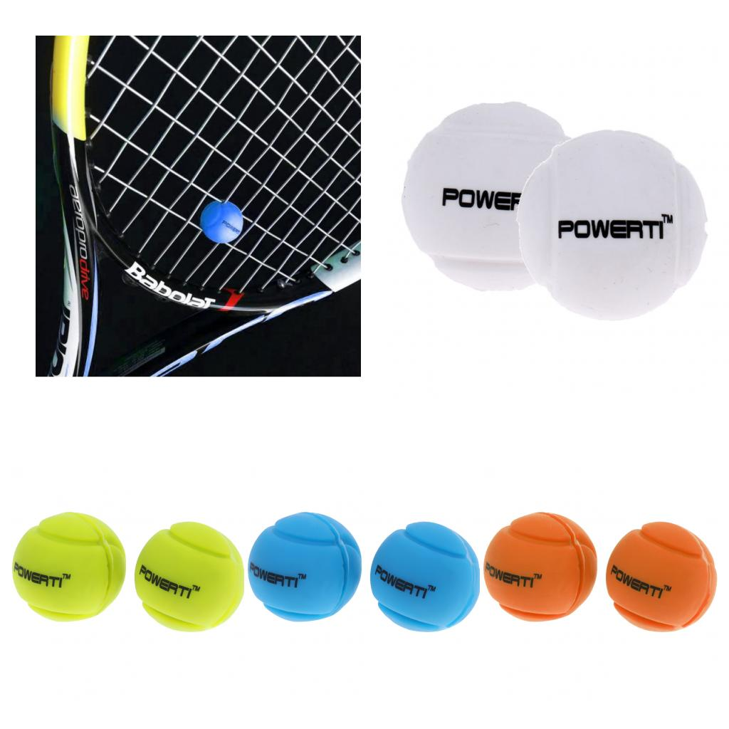 2 Pack Premium Silicone Ball Vibration Dampeners Tennis Racquet Accessories - Various Colors