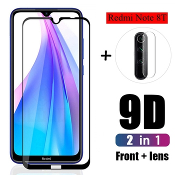 2in1 Protective Glass For Xiomi Redmi 7A Note 7 8 pro 8T 9s Lens Film For Xiaomi Redmi note8 pro note 9 Camera Screen Protector 1