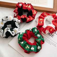 Рождественские резинки эластичные кольца для волос женские веревки