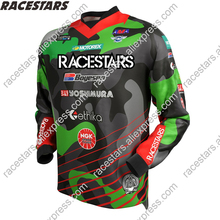 RACESTARS Motocross Jersey Racing Cycling Jersey GP Men Jersey MX MTB Off Road Mountain Bike DH Bicycle moto Jersey BMX colorful nerve motorcycle jacket waterproof brand racing suit off road cycling jersey motocross moto protecion windproof clothing for men