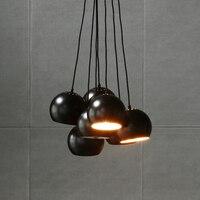 Современный минималистичный подвесной светильник круглый креативный персональный светильник для учебы бар проходные огни Скандинавская