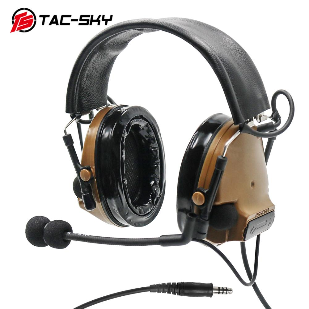 Electronic Tactical COMTAC III Headset Tactical Pickup Noise Reduction Headphones ,Ear Protection Hunting Military Headphones CB