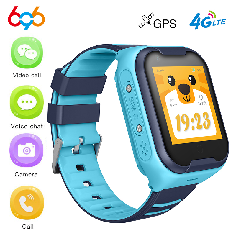 A36E Crianças Relógio Inteligente GPS 4G Wifi Cartão SIM Relógio Inteligente Anti-perdida Criança Bebê Seguro Vídeo SOS chamada Bluetooth Camera Watch Q90 DF39Z
