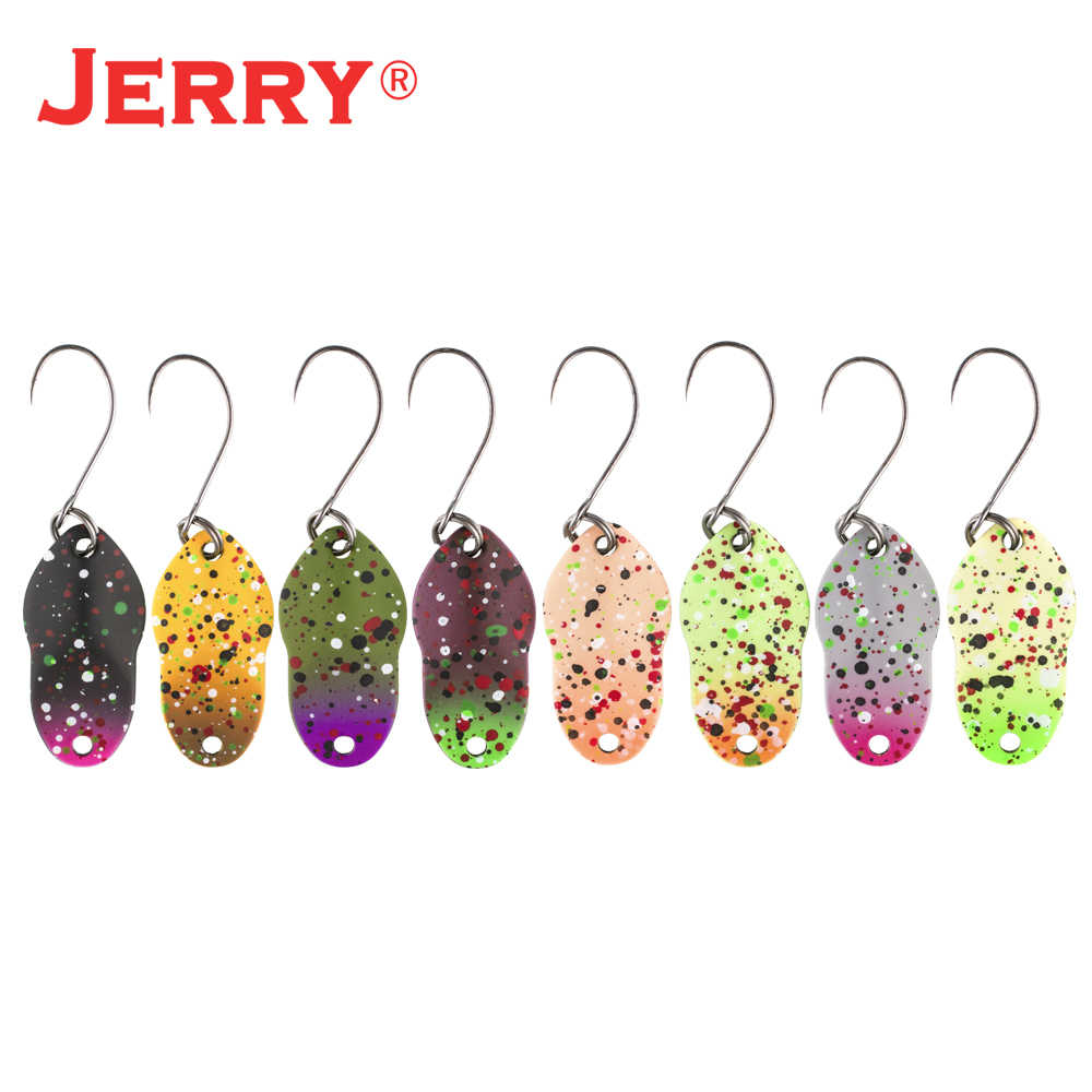Jerry Capricorn 2G 3G Micro Area Trout Sendok Umpan Kit Set UV Warna Logam Memancing Umpan Kuningan Lake streaming Gemerlap Pemintal
