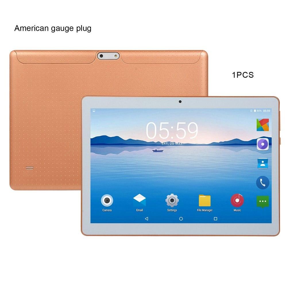 KT107 البلاستيك اللوحي 10.1 بوصة HD شاشة كبيرة أندرويد 8.10 نسخة الموضة المحمولة اللوحي 8G + 64G الذهب اللوحي