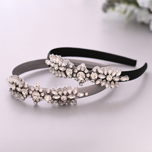 TRiXY S49-FG Baroque Prom Headband Crystal Hair Band Beauty Pageant Crown Rhinestone Headpieces Vintage Silver Clear Hairband