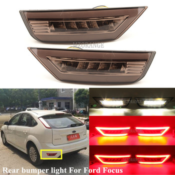 2Pcs Smoke LED Rear Bumper Reflector Light For Ford Focus Hatchback 2009 - 2013 2 MK2/Escape Kuga Fog Lamp