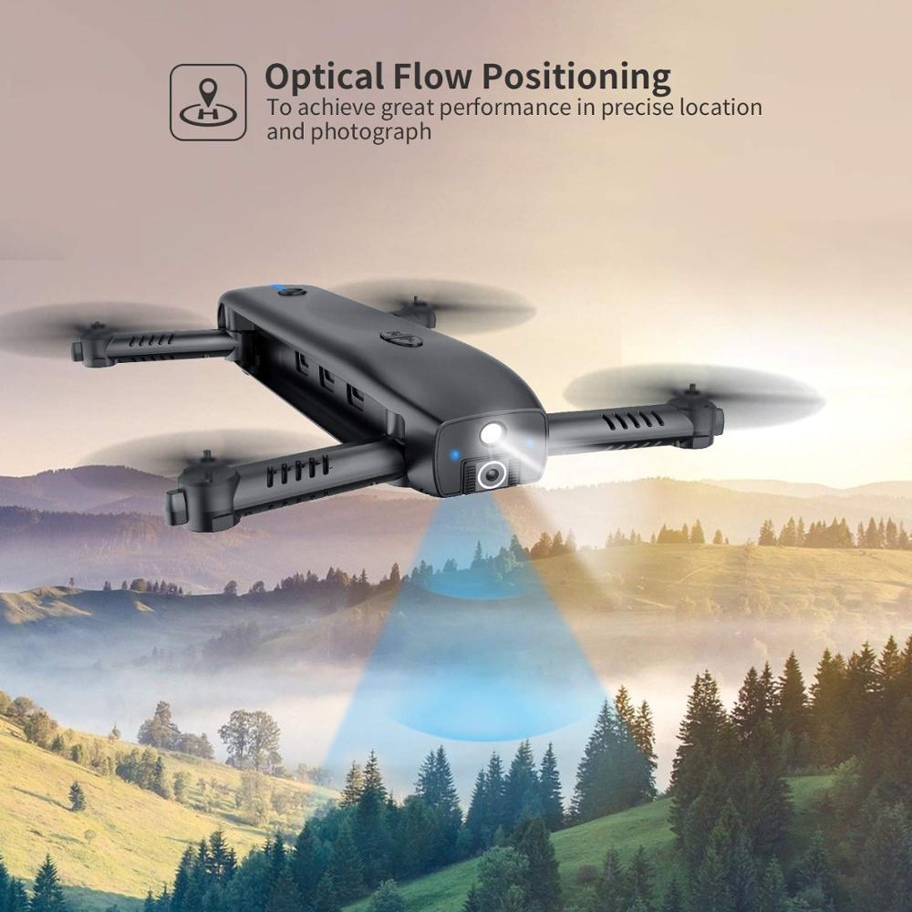 Holy Stone HS161 Optical Flow Positioning Drone With 1080P Camera Foldable FPV RC Drone Helicopter Quadcopter Portable Charger (Black Drone)