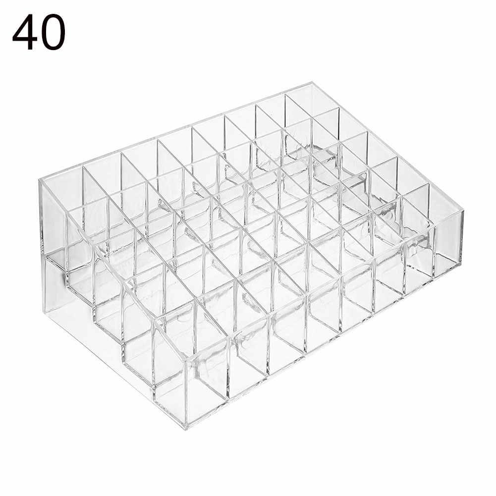36/40 акриловый Органайзер для макияжа, коробка для хранения косметики, коробка для помады, коробка для украшений, чехол, подставка для дисплея, органайзер для макияжа
