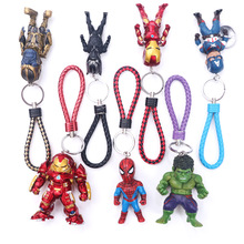 NEW Super Hero Avengers Key Chains 10cm Spider-Man Iron Man Captain America Hulk Action figure toys doll Christmas gift B594 new super man vol 2 coming to america