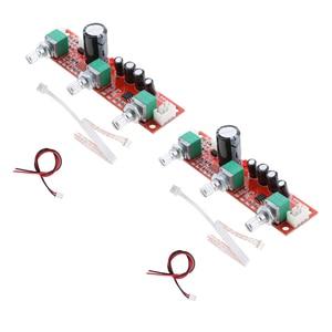 Image 2 - 2 stück NE5532 Preamp vorverstärker Ton Bord Kit Höhen Bass Volumen Control Modul