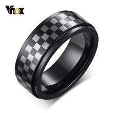 Vnox – bagues en tungstène pour hommes, 8mm, motif damier Unique, pour mariage, style décontracté