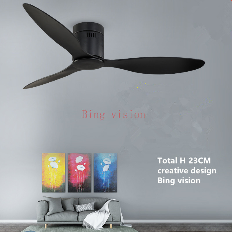 American Industrial Vintage Ceiling Fan without Lights with Remote Control Ventilador De Techo 220V Bedroom 52Inch Ceiling Fan