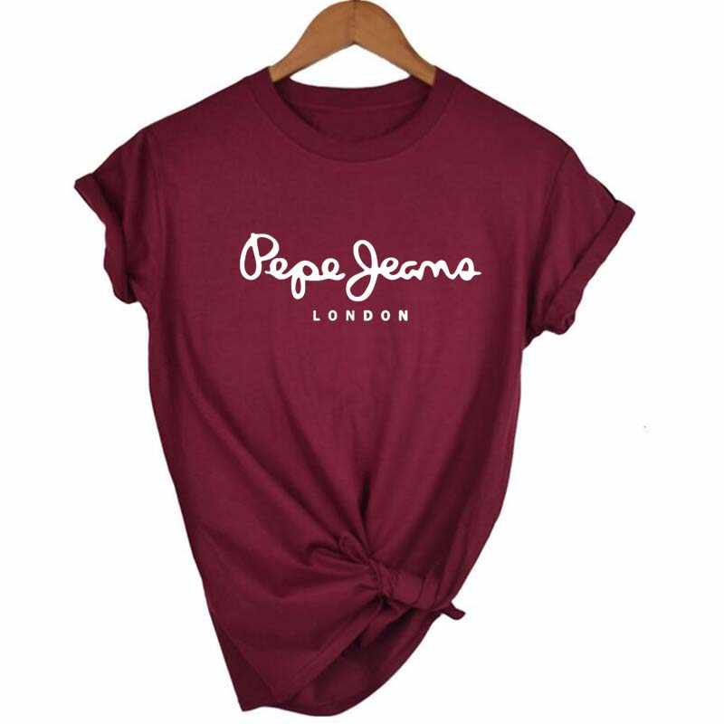 Tシャツ女性の Tシャツを印刷文字 Tシャツカジュアル白黒ピンク半袖綿 2019 トップス春夏の高級ブランド