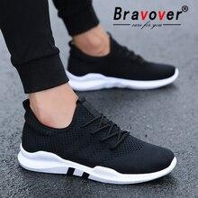 Bravover/Новинка; Мужская Уличная обувь для бега; дышащие мужские кроссовки для взрослых; нескользящая удобная сетчатая спортивная обувь; 3 цвета